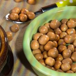 Boules de soja protéinées saveur caramel cacahuète
