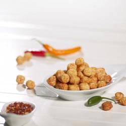 Boules de soja soufflées protéinées arôme chili