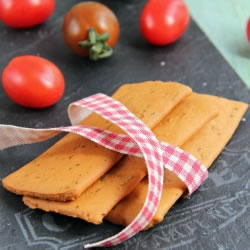 Crackers saveur Tomate Origan riches en protéines