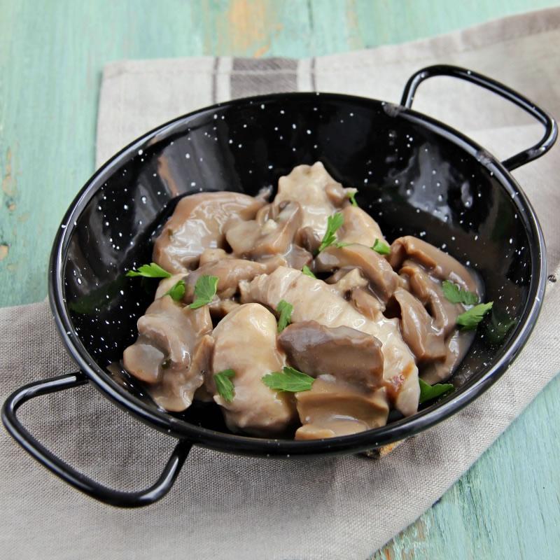 Plat cuisin hyperprot in poulet champignons pour r gime for Plat cuisine minceur