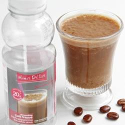 Garrafa bebida rica em proteínas Café com gelo