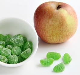 Bonbons Gummy protéinés à la pomme verte DLUO au 28/02/2019