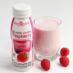 Bouteille smoothie framboise hyperprotéiné