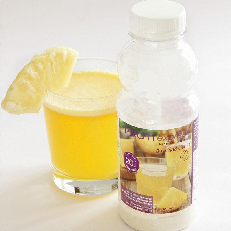 Boisson hyperprot in e ananas en bouteille pour r gime for Regime ananas