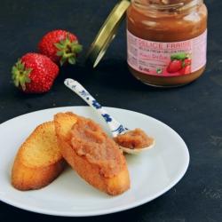 Délice fraise confiture en pot de 185 g DLUO 01/19