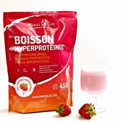 Bebida rica em proteínas morango framboesa Maxi saqueta de 450g 18 doses