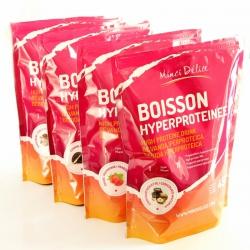 Lot Découverte 4 Maxi sachets de 450 gr boissons hyperprotéinées