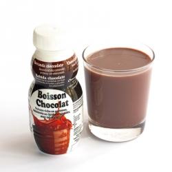 Bouteille Boisson hyperprotéinée chocolatée UHT 250 ml
