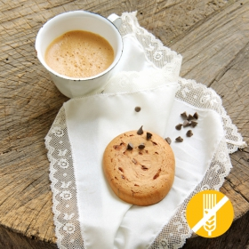 SIN GLUTEN Cookie Copos de Chocolate Negro -  Cookie Chocolat