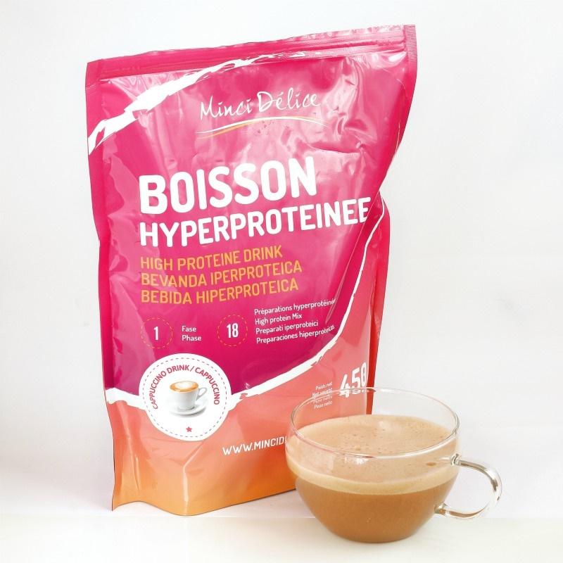 Bebida Hiperproteica Cappuccino Maxi Bolsa 450g para dieta
