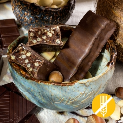 SANS GLUTEN Barre protéinée croustillante chocolat noisettes  - Chocolate hazelnut