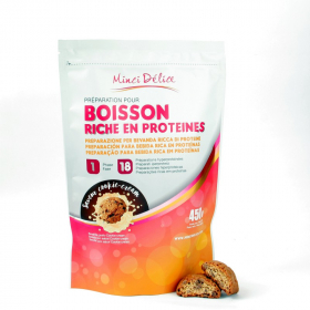 Boisson hyperprotéinée cookie-cream maxi sachet 450g 18 portions