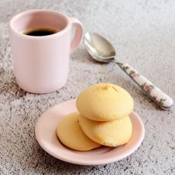 Biscuits protéinés ronds à la vanille Chicche