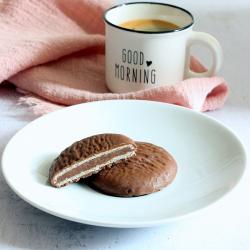 Biscuit protéiné gaufré cacao noisettes