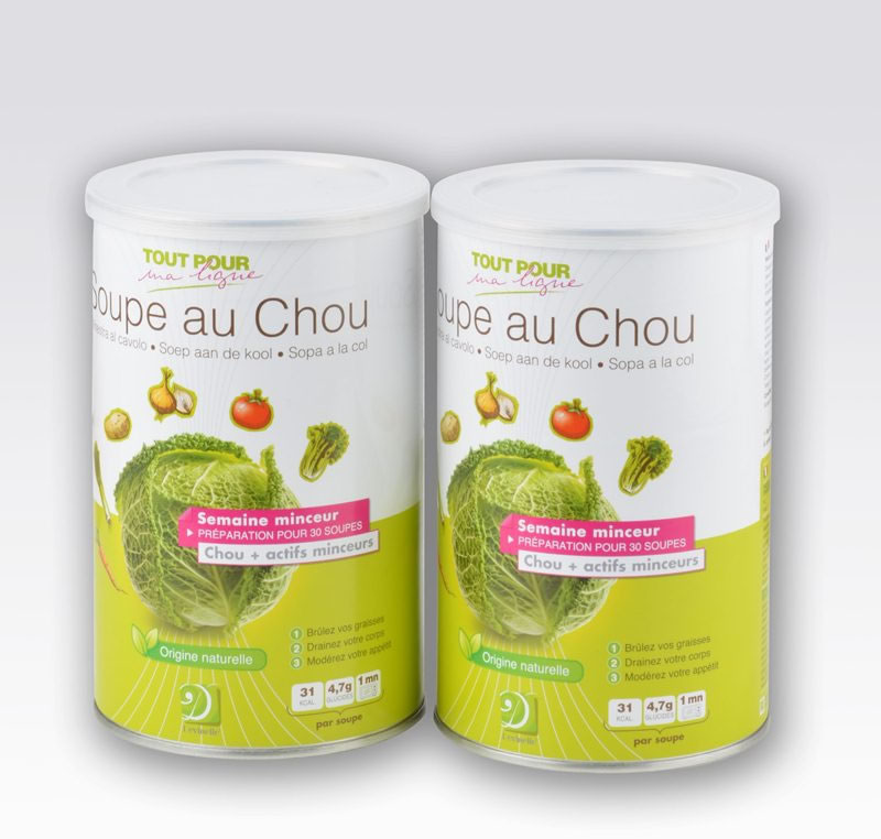r gime soupe axu choux lot de 2 pots de soupe au chou mincid lice. Black Bedroom Furniture Sets. Home Design Ideas